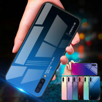 For Samsung Galaxy A20 E A50 A70 Shockrpoof Gradient Tempered Glass Case Cover