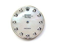 Rolex Men's AirKing Stainless Stee White MOP Dial with 11 Round Diamond Dials