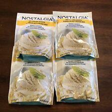 Lot of 4 Nostalgia No Sugar Added Vanilla Mix Make With Rival Ice Cream Makers