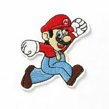 Cute Super Mario running Embroidered Iron On / Sew On Patch