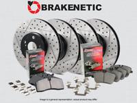 BRAKENETIC PREMIUM DRILLED Brake Rotors+POSI QUIET Ceramic Pads BPK74151 FRONT