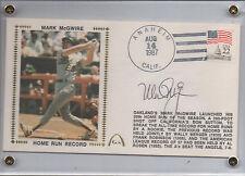 1987 Gateway Cache - MARK McGWIRE - Autograph Silk Cache - GATEWAY Certified
