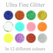Ultra Fine Glitter 12 Colours Nail Art Wine Glass Face Craft in 3g Pot with Lid