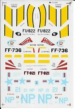 Early Packaging Microscale Korean War Aces #2, Decals 1/72 244, F-86E, F-80C....