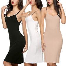 Womens Sexy-Lingerie Cotton Full Slip Sleep Dress Babydoll Nightwear Chemise