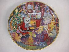 """Christmas """"Not A Creature Was Purring"""" By Bill Bell, Limited Edition Plate, 8"""" D"""