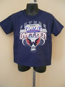 "New- Washington Capitals ""Future Draft Pick"" Toddlers 3T Navy Shirt by Reebok"
