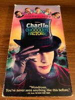 Charlie And The Chocolate Factory VHS VCR Video Tape Movie Johnny Depp Used RARE