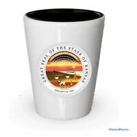 The state seal of Kansas Shot glass - Gifts for Kansas People (4)