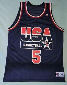 VTG MARK PRICE #5 USA BASKETBALL OLYMPICS CHAMPION JERSEY DREAM TEAM SZ 48 BLUE