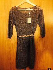 HOSS INTROPIA Very Pretty Khaki Gold Lurex Dress Size L