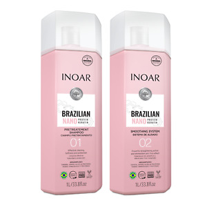 Inoar Brazilian Nano Protein Keratin (Shampoo + Treatment) Kit 2L