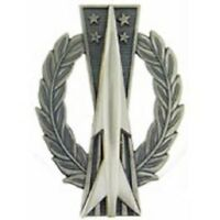 "Air Force Basic Missile Operations Ops Badge Pin 3-1/8"" Regulation Size"