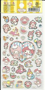 Sanrio My Melody Stickers Hologram Summer Dolphin Piano