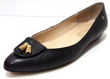 ETIENNE AIGNER Black Leather Slip On Flats Shoe Womens 7.5 Narrow