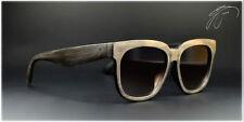 Sonnenbrille Unisex Damen Herren Brille in Holz Wood Look Schwarz Braun 2440