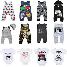 UK Newborn Toddler Baby Boy Girl Bodysuit Romper Jumpsuit Cartoon Clothes Set