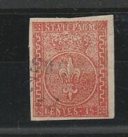 FRANCOBOLLI 1853/55 PARMA C.15 VERMIGLIO E/5324