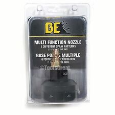 BE Quick Connect Multi Function 6 in 1 Pressure Washer Nozzle Tip 1/4""