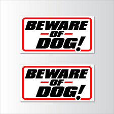 """TWO! Beware of Dog Sign 12x6"""" Warning Signs Private Property Keep OUT! Stay Away"""