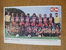 "1976/1977 Football Magazine (France) Colour Team Group [8""x 5""] Cut Outs: Paris"