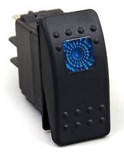 Waterproof Blue LED Rocker Switch With Light On/Off Boat Marine