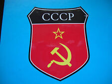 2x RUSSIAN USSR CCCP  FLAG SHIELDS CAR WINDOW BUMPER  STICKERS  BIKE HELMET