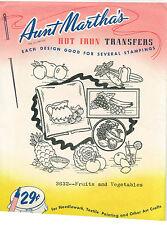 Fruits & Vegetables ~VINTAGE~ Aunt Martha's Transfer