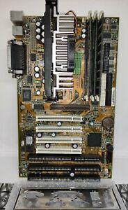Motherboard MS-6119 Ver. 1.2 BX2 Slot1 + Pentium III 600EB+ RAM 384 RARE SET