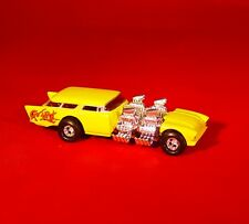100% HOT WHEELS GO-MAD 4 ENGINE CHEVY NOMAD DRAGSTER RUBBER TIRE LIMITED EDITION