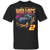 Men's #2 Rusty Wallace Vintage Nascar Car 2020 Black T-shirt S-5XL
