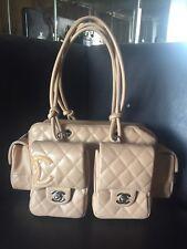 Rare Chanel CC Beige Cambon Reporter Bag