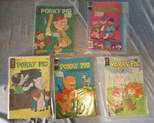5 Comics  Porky Pig 1966 #6, 21, 80  & Bugs Bunny #40  Looney Tunes 1977 #15