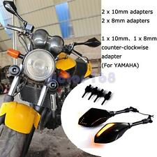 8MM 10MM Motorcycle LED Turn Signal Light Rearview Mirrors For Bajaj Pulsar 200