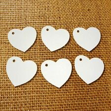 100 Heart Tags In White - Valentines - Wedding - Wish Tree Tags. No String.