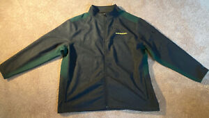 Colosseum Mens Oregon State University Ducks Sweat Jacket Size 3XLT Gray Green