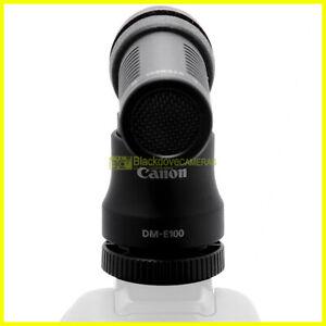 Canon DM-100 microfono unidirezionale 120° per fotocamere jack 3,5mm 100Hz 10KHz