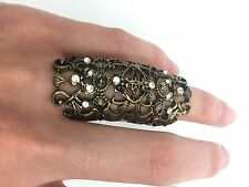 Ring | Bronze Vintage style | Full Finger  Women Fashion Floral Style | Small