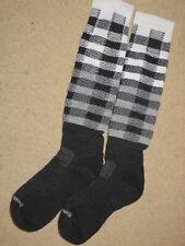EXCELLENT Smartwool black + white taller socks - adult / womens M