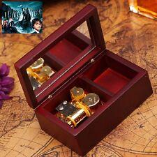 Rectangle Wood Jewelry Wind Up Music Box :Hedwig's Theme Soundtrack / Prologue
