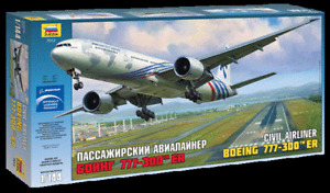 Zvezda 1/144 scale BOEING 777-300ER airliner plane model kit