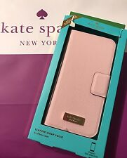 NWT KATE SPADE NEW YORK LEATHER iPHONE 7 FOLIO CASE PINK