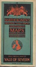Vintage Bartholomew's Vale Of Severn Great Britain Sheet 18 Paper Map