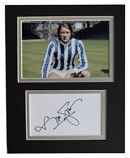 Frank Worthington Signed Autograph 10x8 photo display Huddersfield Football COA