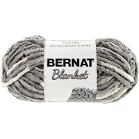 Bernat Blanket Sb Yarn - (6) Super Bulky Gauge - 5.3oz - Silver Steel - Machine