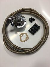 SBC Chevy Mechanical Fuel Pump Kit High Volume 80 GPH Hose and Fittings