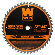 Wen Woodworking Saw Blade for Miter Table Saws 12 Inch 48 Tooth Carbide Tipped