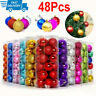 48Pcs Glitter Christmas Balls Baubles Xmas Tree Hanging Ornament Home Decoration