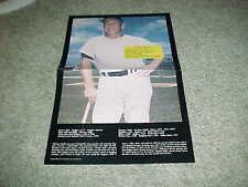 1986 Mickey Mantle New York Yankees Grossman Stamp Baseball Poster