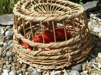 Large Lobster pot 460 mm Traditional Wicker Style / Fishing Boat Net Garden Gift